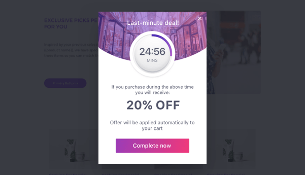 Create an exit offer with Checkout Boost app