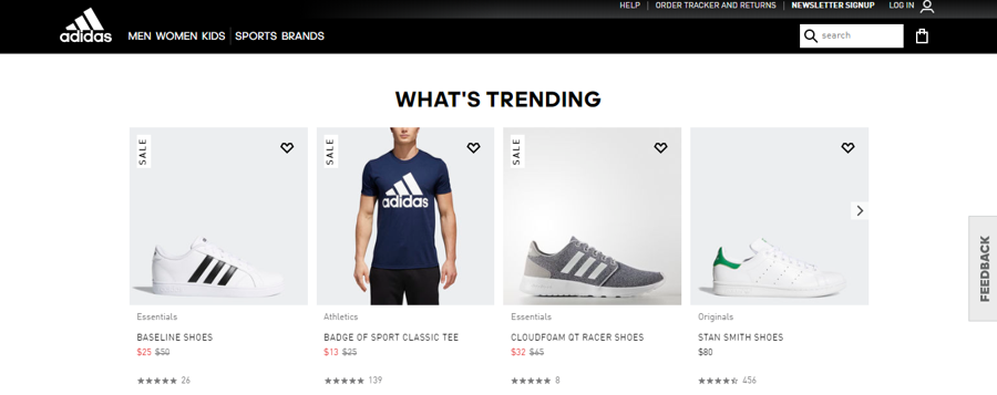Adidas's trending products