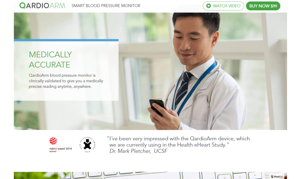 Qardio asked for a testimonial from an expert doctor.
