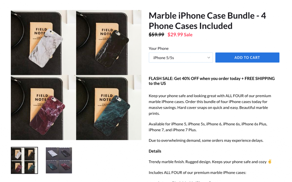 Marble Iphone case bundle