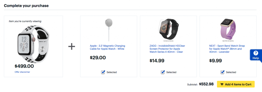 Best Buy bundle of Apple Watch