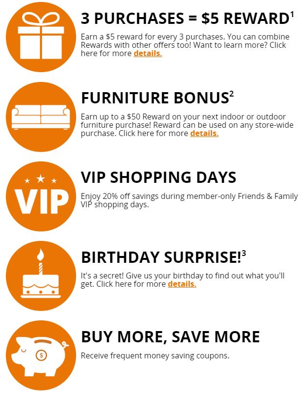 BigLots - milestone discounts
