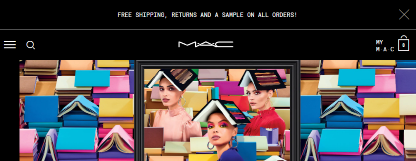 Mac cosmetic free shipping offer