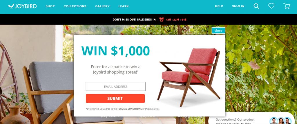 Joybird shopping spree