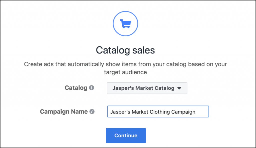 Choose Catalog sales