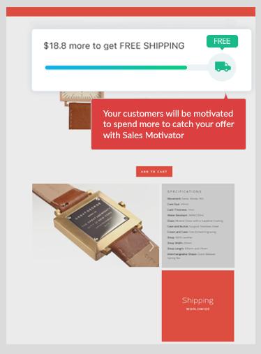Increase average order value with Sales Motivator