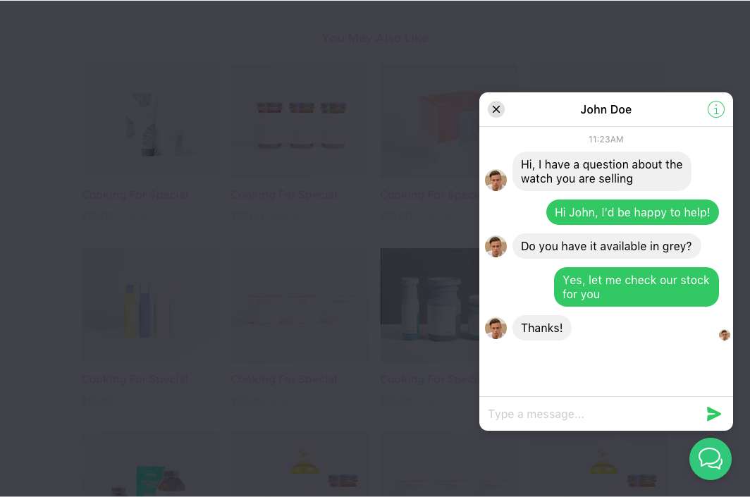 WooCommerce facebook chat extension