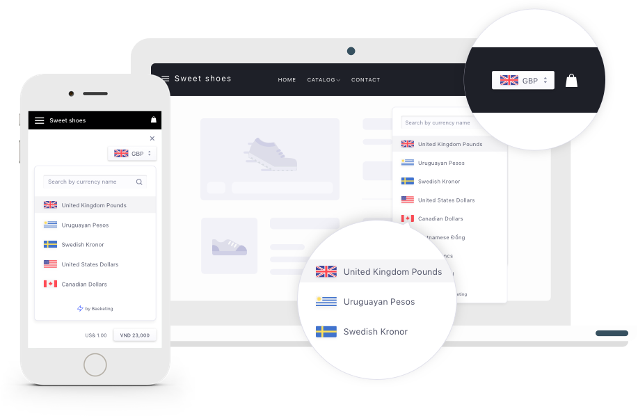 Automatically convert currency for eCommerce   Calbot