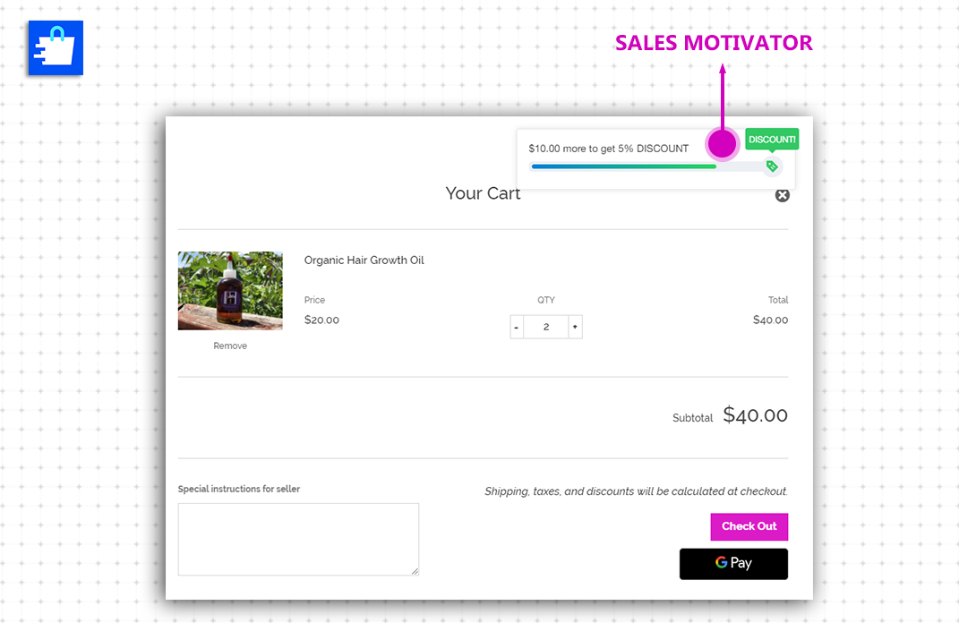 Checkout Boost Sales Motivator